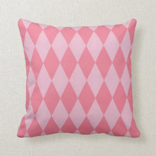 Two Toned Pink Harlequins Throw Pillow