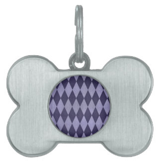 Two Toned Purple Harlequins Pet Tags