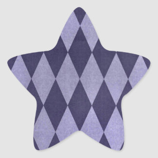 Two Toned Purple Harlequins Star Sticker