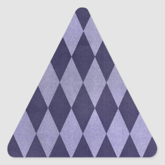 Two Toned Purple Harlequins Triangle Sticker