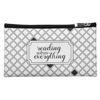 Two Toned Reading Solves Everything Bag