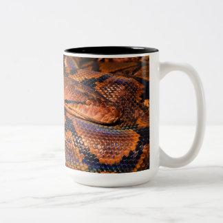 Two toned snake mug