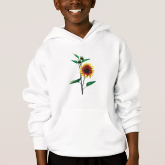 Two-Toned Sunflower Kids Hoodie