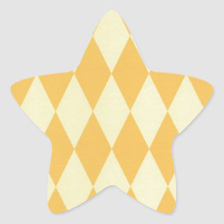 Two Toned Yellow Harlequins Star Sticker