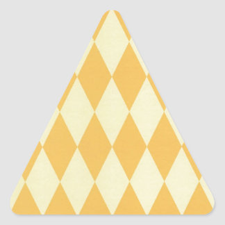 Two Toned Yellow Harlequins Triangle Sticker