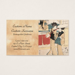 Two Tori-oi, or Itinerant Women Musicians Japan Business Card