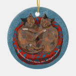Two Tortoise Shell Cats (tree ornament)
