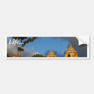 Two Towers In Balboa Park Car Bumper Sticker
