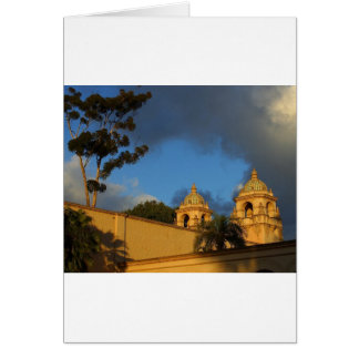Two Towers In Balboa Park Greeting Card