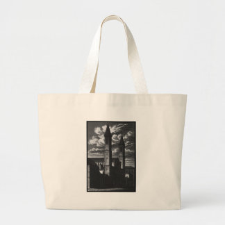 TWO TOWERS LARGE TOTE BAG