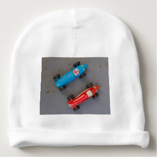 Two toy vintage cars baby beanie