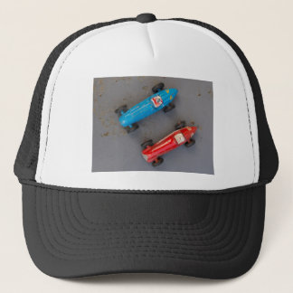 Two toy vintage cars trucker hat