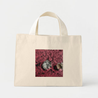 Two tree stumps in the forest mini tote bag