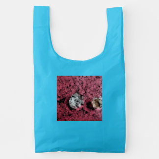 Two tree stumps in the forest reusable bag