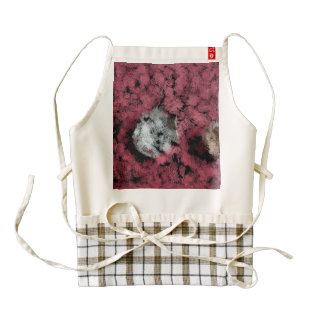 Two tree stumps in the forest zazzle HEART apron