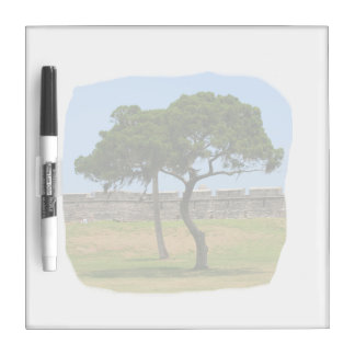 Two trees and castle walls Dry-Erase whiteboards