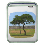 Two trees and castle walls iPad sleeve