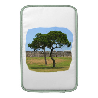 Two trees and castle walls MacBook sleeve
