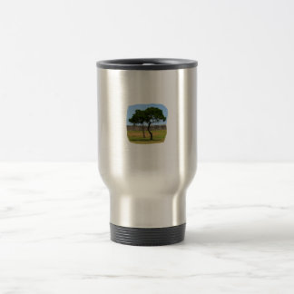 Two trees and castle walls mugs