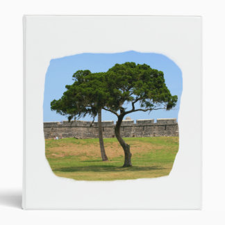 Two trees and castle walls vinyl binder