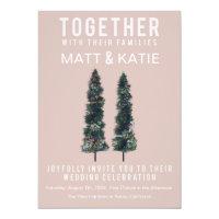 Two Trees Minimal Wedding Invitation
