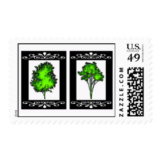 TWO TREES POSTAGE STAMP