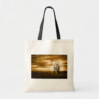 Two Trees Sepia Fields Tote bag