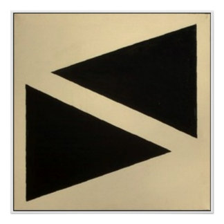 Two Triangles Poster
