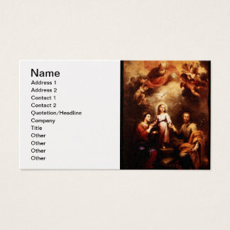 Two Trinities - The Holy Family - Murillo Business Card