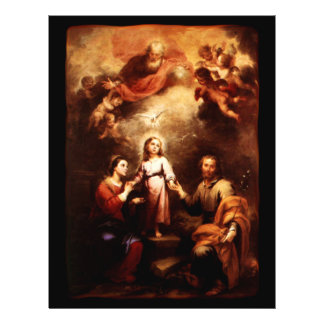 Two Trinities - The Holy Family - Murillo Flyer