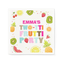 Two-tti frutti Paper Napkin Fruit Birthday Fruity