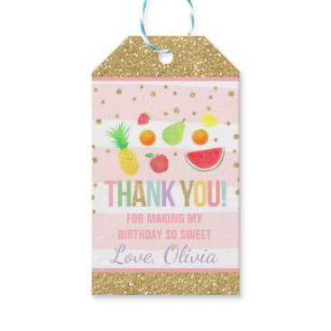 PixelPerfectionParty Two-tti Frutti Party Favor Thank You Fruit Party Gift Tags