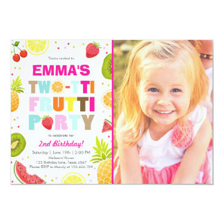 Two-tti frutti party invite Tutti fruity birthday