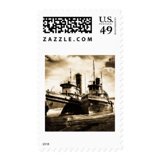 Two Tugs Postage Stamps