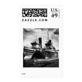 Two Tugs Postage Stamp