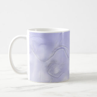 Two Tulips Flower Sketch in Blue Coffee Mug