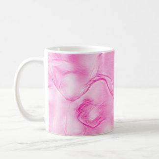 Two Tulips Flower Sketch in Pink Coffee Mug