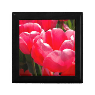 Two Tulips - Pink Coral Jewelry Box