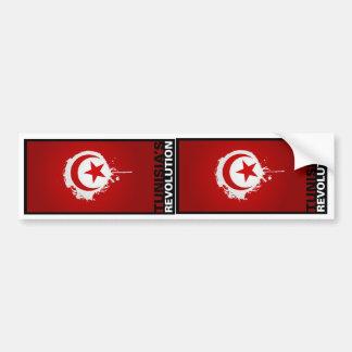 """TWO """"Tunisia's Revolution"""" Car Bumper Sticker"""