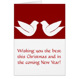Two Turtle Doves Christmas Greeting Card