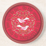 Two turtle doves coaster