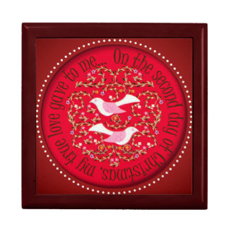Two turtle doves jewelry box