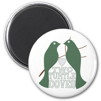 Two Turtle Doves Magnet