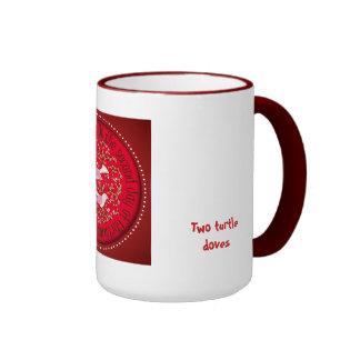 Two turtle doves ringer mug