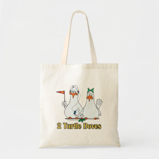 two turtle doves second 2nd day of christmas canvas bags