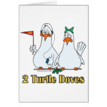 two turtle doves second 2nd day of christmas greeting card