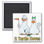 two turtle doves second 2nd day of christmas fridge magnets