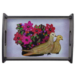 Two Turtle Doves Serving Tray