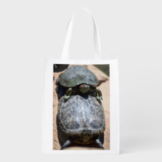 Two Turtle Stack Reusable Grocery Bag