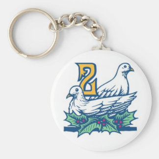 Two Turtledoves Keychain